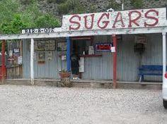 Sugar burger at Sugar's, Embudo, New Mexico