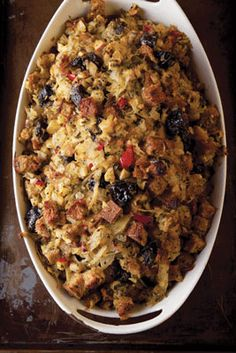 Oaxacan stuffing gets its sweet-spicy flavor from chiles, fennel, prunes, and cumin.