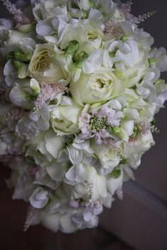 rose,sweet pea,astilbe and scabiosa