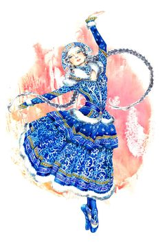 Characters of Russian Folk Tales - Snow maiden -