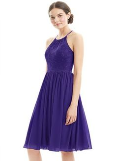 7f3e625bd14 Shop Azazie Bridesmaid Dress - Lyric in Chiffon and Lace. Find the perfect  made-to-order bridesmaid dresses for your bridal party in your favorite  color