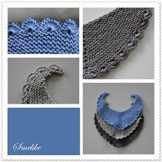 Anitas kreative side: Babysmikke / Scallo-Pie Knitting For Kids, Baby Knitting Patterns, Baby Patterns, Crochet Collar, Knit Crochet, Baby Barn, Baby Kind, Baby Sewing, Handicraft
