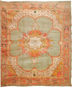Antique Oushak rug, 13' 7'' x 16' 7''Historic Oriental Rugs Collection #OrientalRugs