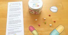 Heimweh Tabletten für die Klassenfahrt / den Aufenthalt im Schullandheim in der Grundschule