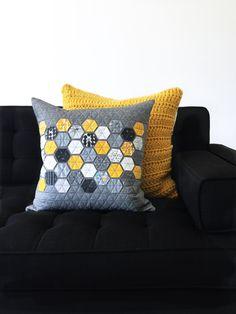 Hexie Pillow // Fragile Fabric