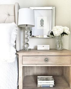 nice Bedroom nightstand styling. Easy ways to decorate your bedroom nightstand…... by http://www.besthomedecorpics.space/bedroom-ideas/bedroom-nightstand-styling-easy-ways-to-decorate-your-bedroom-nightstand/