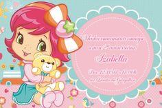 Convite digital personalizado Baby Moranguinho 001