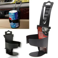 1PC Universal Vehicle Car Truck Door Mount Drink Bottle Cup Holder Stand Black