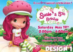 strawberry shortcake invitations - Google Search