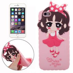 3D Style Cartoon Cute Xiaoxi Pattern Silicone Case for iPhone 6 Plus(Pink)