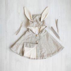 Linen Rabbit Cape
