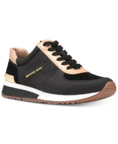 Michael Kors Canvas Solid Shoes for Women for sale Mk Sneakers, Timberland Sneakers, Leather Sneakers, Canvas Sneakers, Michael Kors Sneakers, Michael Kors Fulton, Black Shoes, Trainers, Athletic Shoes