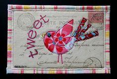 Tweet Fabric Postcard by freezeframe03, via Flickr