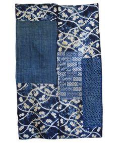 A Superb Boro Shibori Mat: Narumi Kongata Patch