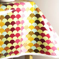 Laminated Cotton Oilcloth Tablecloth Waterproof Tula Pink Scallops Pick  Your Size