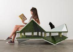 Casas de gatos com design - Mix de banco e cama de gato, o projeto do escritório Space Int'l chama atenção