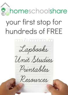 Homeschool Share: an online homeschool curriculum cooperative hosting over 500 unit studies, lapbooks, printables, and other resources.