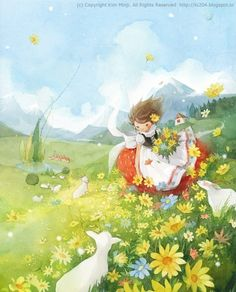 """Heidi"" illustrated by Kim Min Ji"