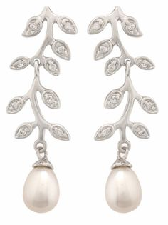 Long Pearl Drop Earrings October 2014, Pearl Drop Earrings, Wedding Jewelry, Jewellery, Pearls, Pretty, Pearl Earrings, Jewels, Jewelry Shop
