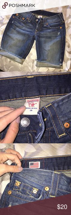 True Religion Shorts Great condition True Religion Shorts Jean Shorts