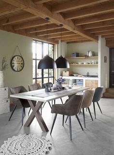 Eettafel Miori 220x100 beton #prontowonen  #droomwoonkamer
