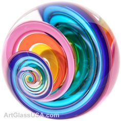 Fascinating glass marble art effect, interesting mixture of colours