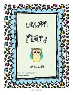 This lesson plan template can be used in any classroom.  Great for binding to create your own personal lesson plan book.  If you would like a speci...