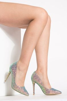 bb624f553 Blue Glitter Pointy Toe Classic Pumps   Cicihot Heel Shoes online store  sales Stiletto Heel Shoes