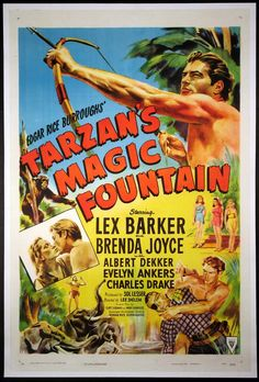 TARZAN'S MAGIC FOUNTAIN Movie Poster (1949) || ACTION / ADVENTURE Movie Posters   @ FilmPosters.Com - Vintage Movie Posters and More