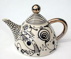 Mark Dally Ceramics' Calligraphy teapot, love!