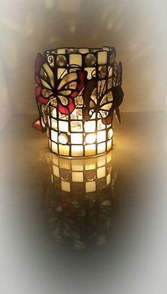 Подсвечник Making Stained Glass, Stained Glass Lamps, Stained Glass Projects, Stained Glass Patterns, Mosaic Glass, Fused Glass, Glass Butterfly, Glass Terrarium, Wood Glass