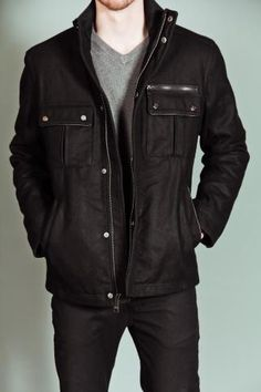 Never go wrong with the black jacket