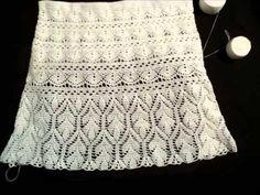 Ажурный узор для юбки крючком из ракушек - Урок 32. Crochet pattern shells - YouTube