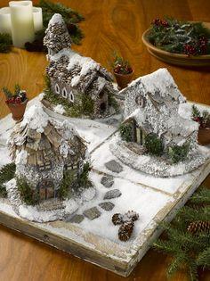 Winter Fairy Houses, Set of 3