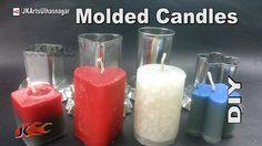 DIY Homemade Molded Wax Candles | How to Make | JK Arts 958