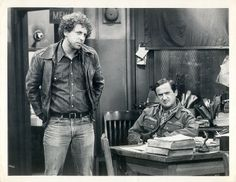 """1979 Press Photo Ron Carey and Sal Viscuso in """"Barney Miller""""-""""The Photographer"""" Barney Miller, Press Photo, Ol, Fictional Characters, Ebay, Fantasy Characters"""