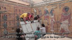Replica Tut's tomb open - The History Blog.  @Mary Powers Musil