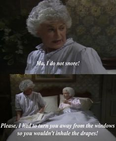 """The Golden Girls"" / Dorothy & Sophia In Bed"