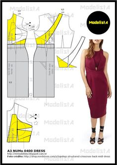 about new dresses,parenting and birthday party ideas. Fashion Sewing, Diy Fashion, Fashion Dresses, Midi Dresses, Dress Sewing Patterns, Clothing Patterns, Diy Clothes, Clothes For Women, Modelista