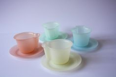 Coffee cup and saucers. Tupper Millionaire line