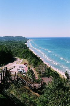 M22 Scenic Overlook Lake Michigan Arcadia MI, USA /