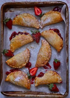 Baked Strawberry Pie with Cream Cheese Pastry Dough