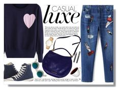 """""""casual"""" by amilla-top ❤ liked on Polyvore featuring Converse, Acne Studios, Marc by Marc Jacobs, Kate Spade and Burberry"""