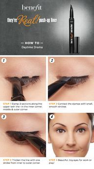 Daytime Drama HOW TO featuring Benefit's They're Real! Push-Up Liner #Sephora #howto #beautytutorial @Benefit Cosmetics
