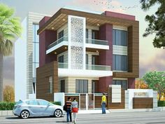H House Elevation, Front Elevation, Innovative Architecture, Modern Architecture, Modern House Design, Ant, Apartments, Living Rooms, New Homes