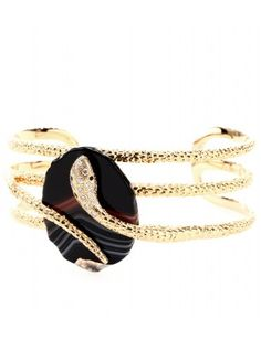 GOLD-PLATED CUFF WITH EMBELLISHMENT