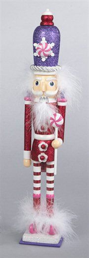 Candy Fantasy Decorative Red Wooden Candy Kingdom Christmas Nutcracker!!! Bebe'!!! Love this candy themed nutcracker in pretty pastels!!!