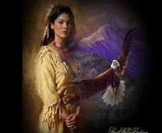 Indian Maiden and Eagle