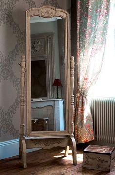 Зеркало напольное ″Шато″. Аксессуары в стиле прованс, зеркало, интерьер, provence, декор, стиль.