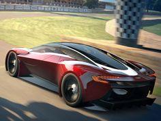 Futuristic Car   Aston Martin Unveils DP100 Vision Gran Turismo